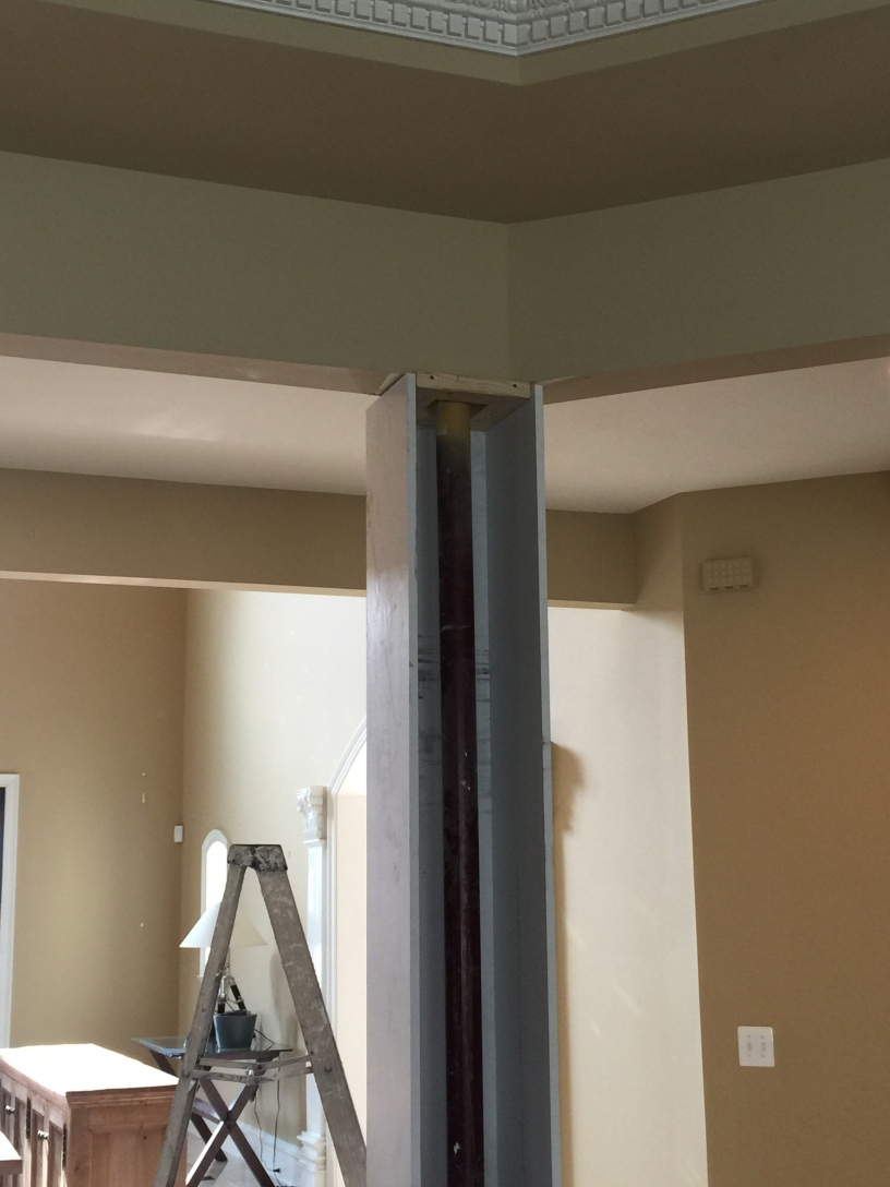 Building Interior Wood Square Pillars Updating Our Fluted Columns Happy Haute Home